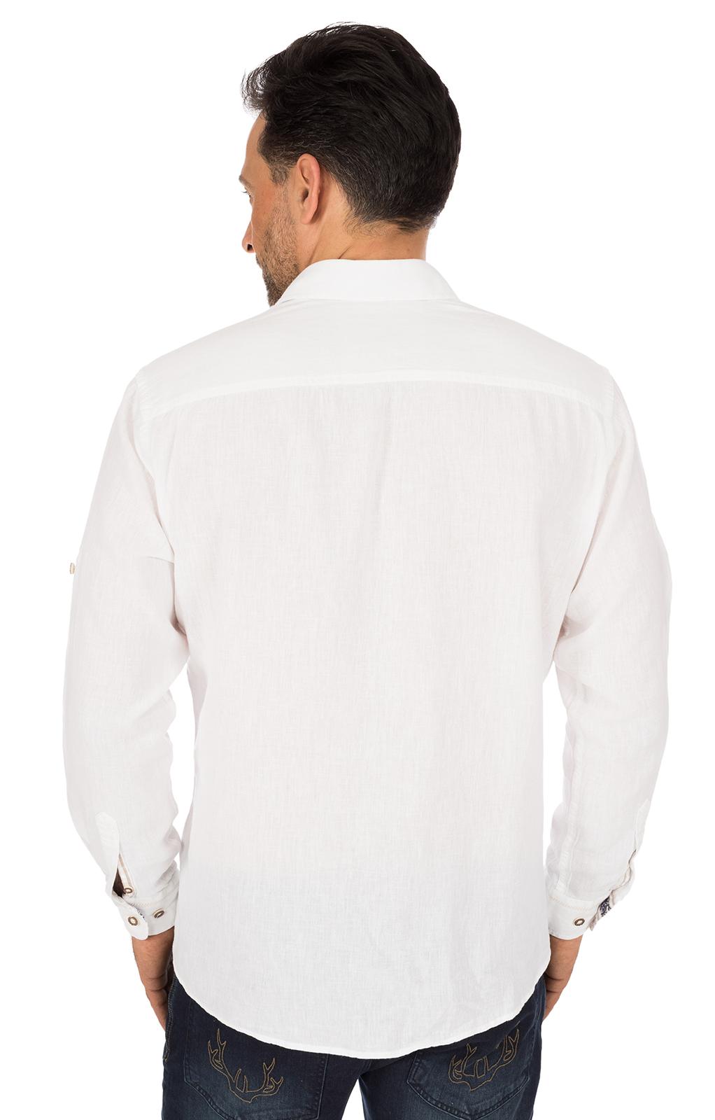 weitere Bilder von Trachtenhemd JANNIS Baumwolle weiss blau
