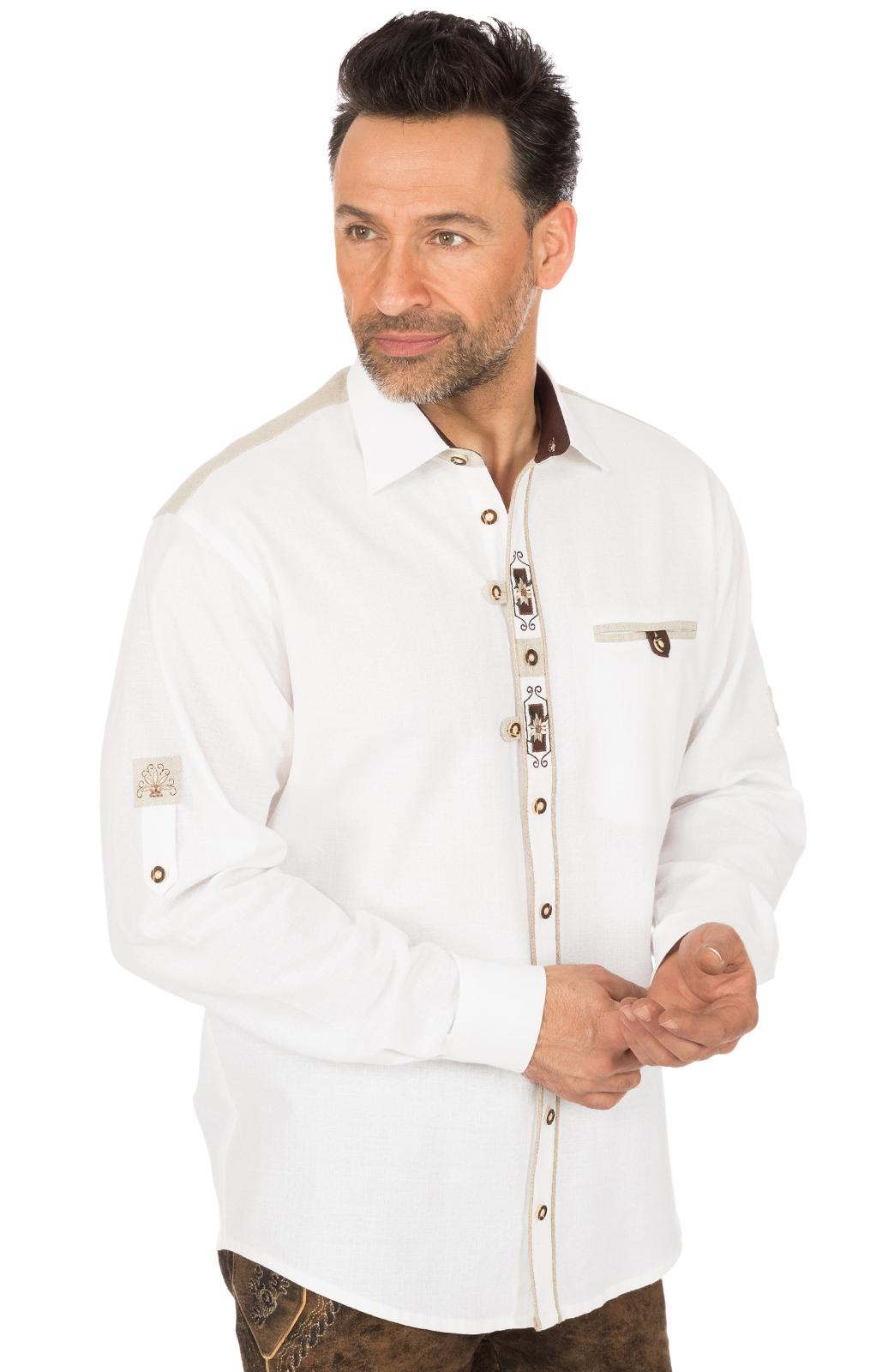 Trachtenhemd VENDER weiss von OS-Trachten