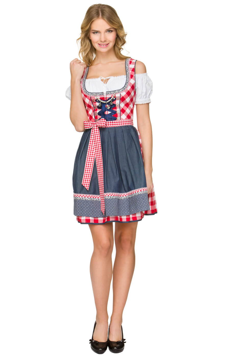 Mini-Dirndl 50cm Kitty rood von Stockerpoint