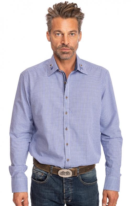 Karo Langarmhemd MAISACH blau