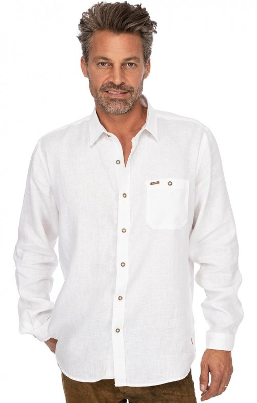 German traditional shirt long sleeve VINCENT2 white
