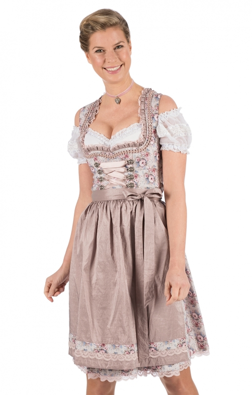 Mini Dirndl 2tlg. 58cm FANCY mauve