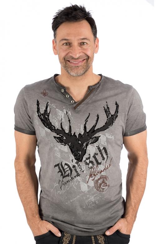 Trachten T-Shirt Avon grau