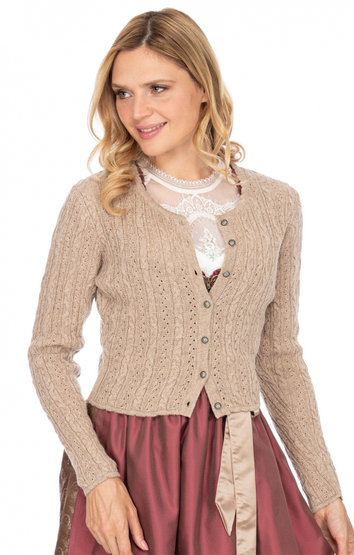 Traditional Cardigan LIZ3 taupe