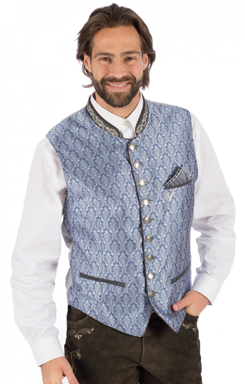 Traditional waistcoat JANKO light blue