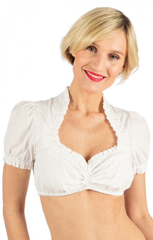 Traditional dirndl blouse QUITE SIMPLY ecru