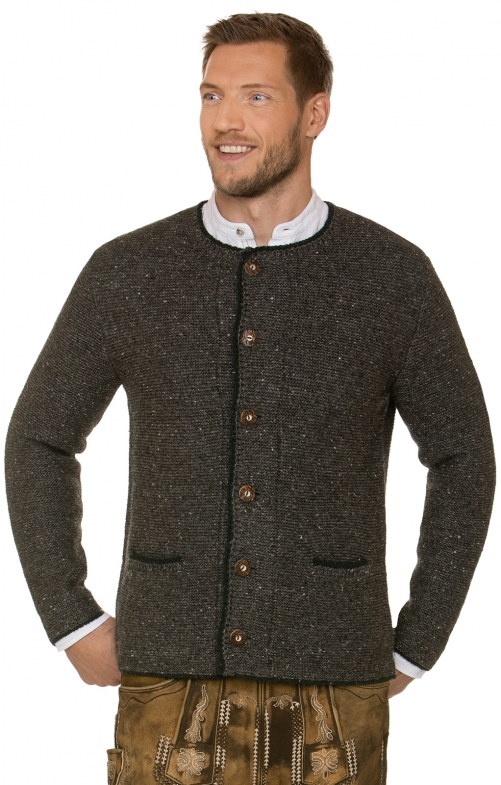Traditional german cardigan Walden pebble