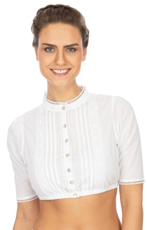 Traditional dirndl blouse B7086 white