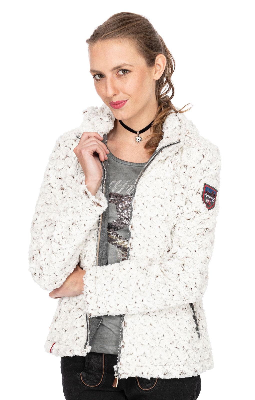 weitere Bilder von Trachten Jacke mit Mütze GEISSPITZE weiss