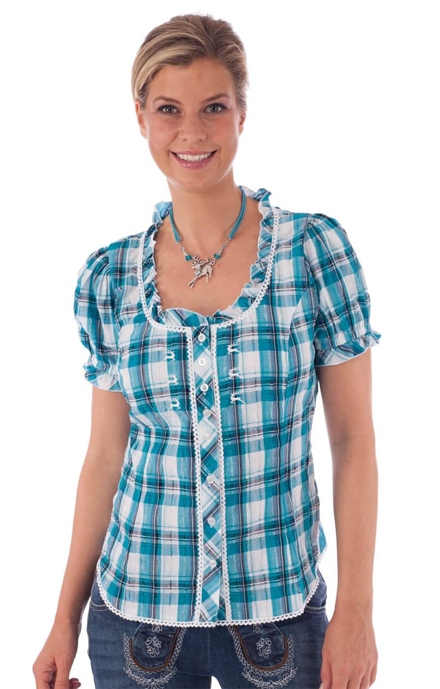 Traditional blouse MAREN turquoise von OS-Trachten