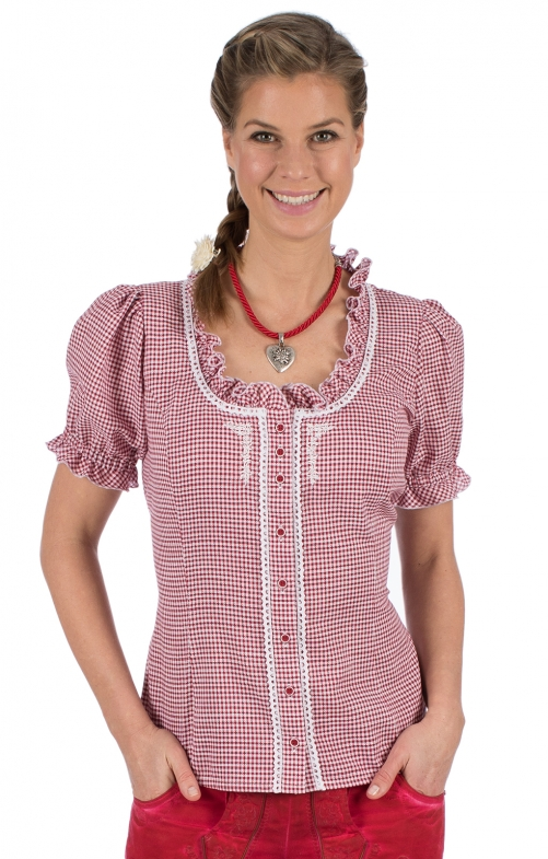 Traditional blouse SONNEGG red
