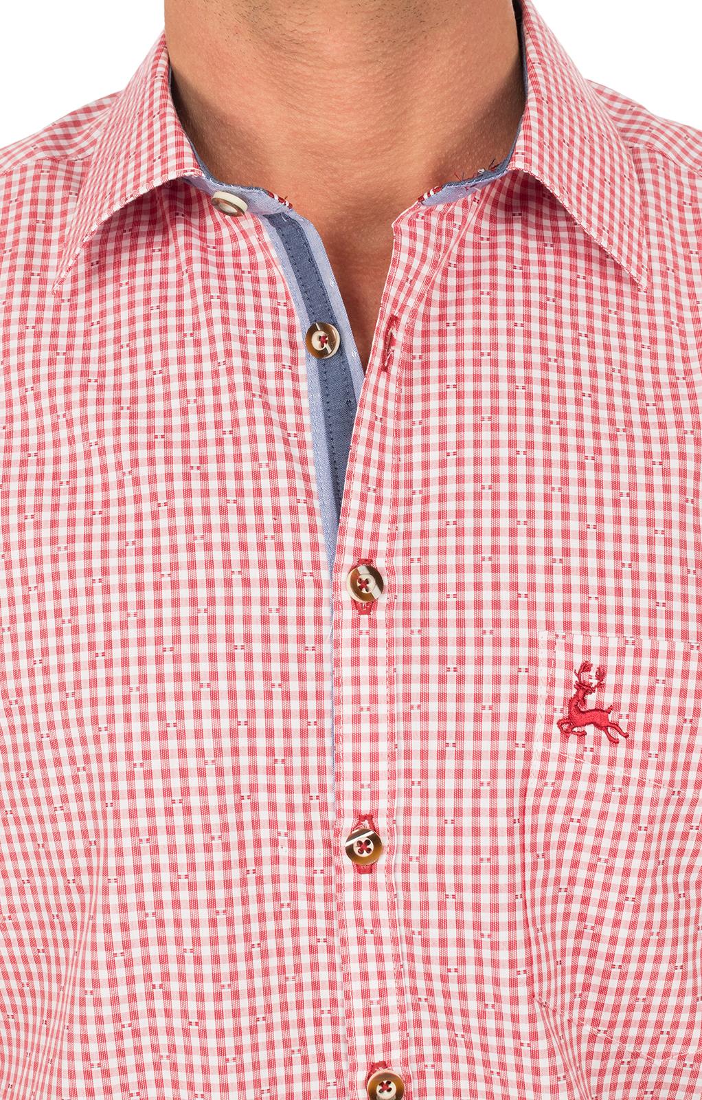 weitere Bilder von Camicia per Trachten manica lunga rosso