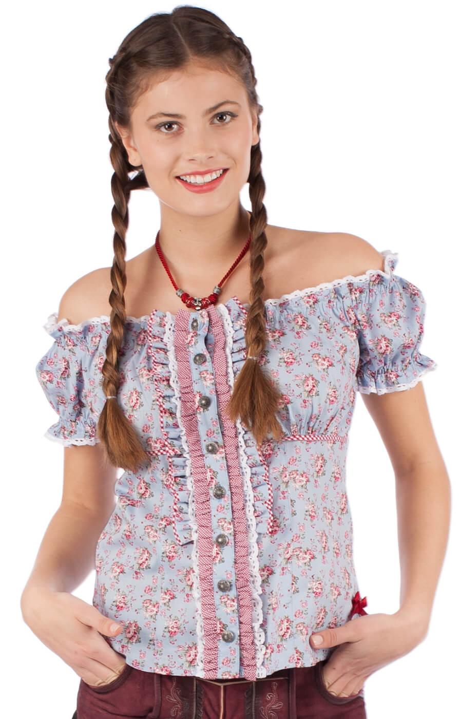 Traditional blouse 32840-809 blue von Krüger Dirndl