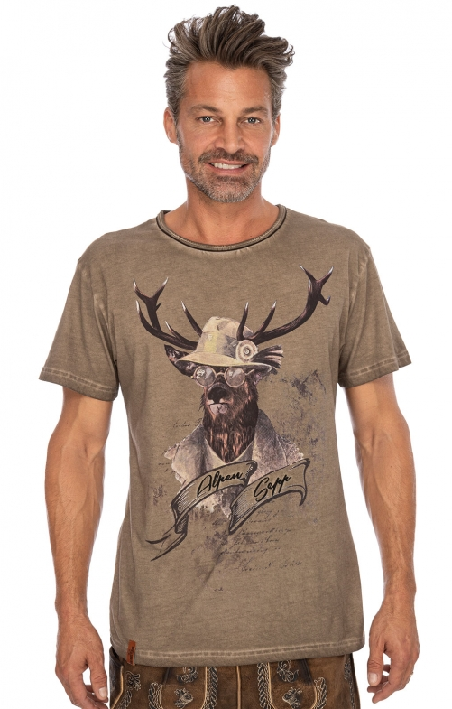 Costumes T-shirt G07 - BENEDIKT brown