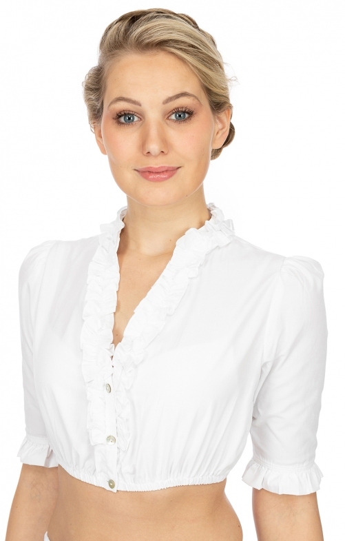 Traditional dirndl blouse B8030 white