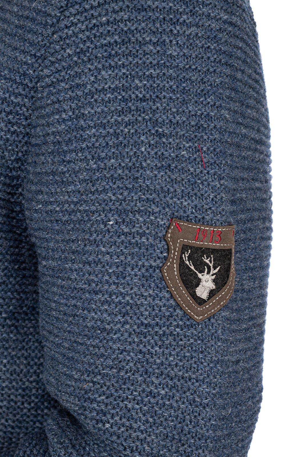 weitere Bilder von Trachtenstrickjacke MERZEN jeansblau