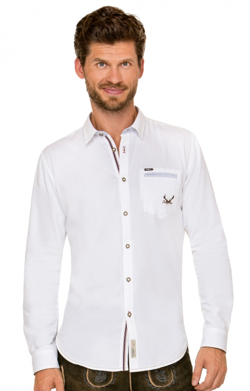 German traditional shirt long sleeve Musk white