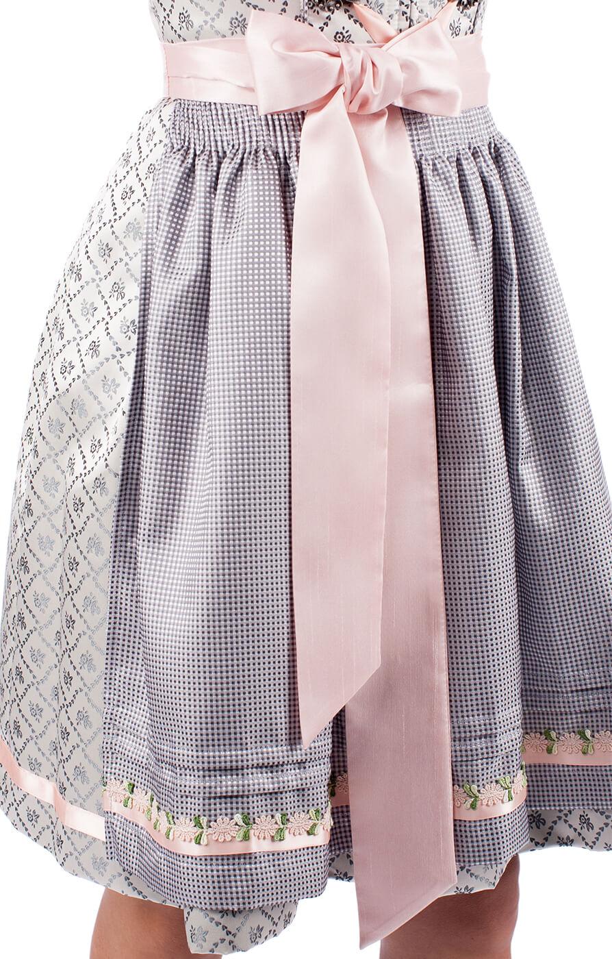 weitere Bilder von Midi Dirndl 60cm ROSE DAISY grijs