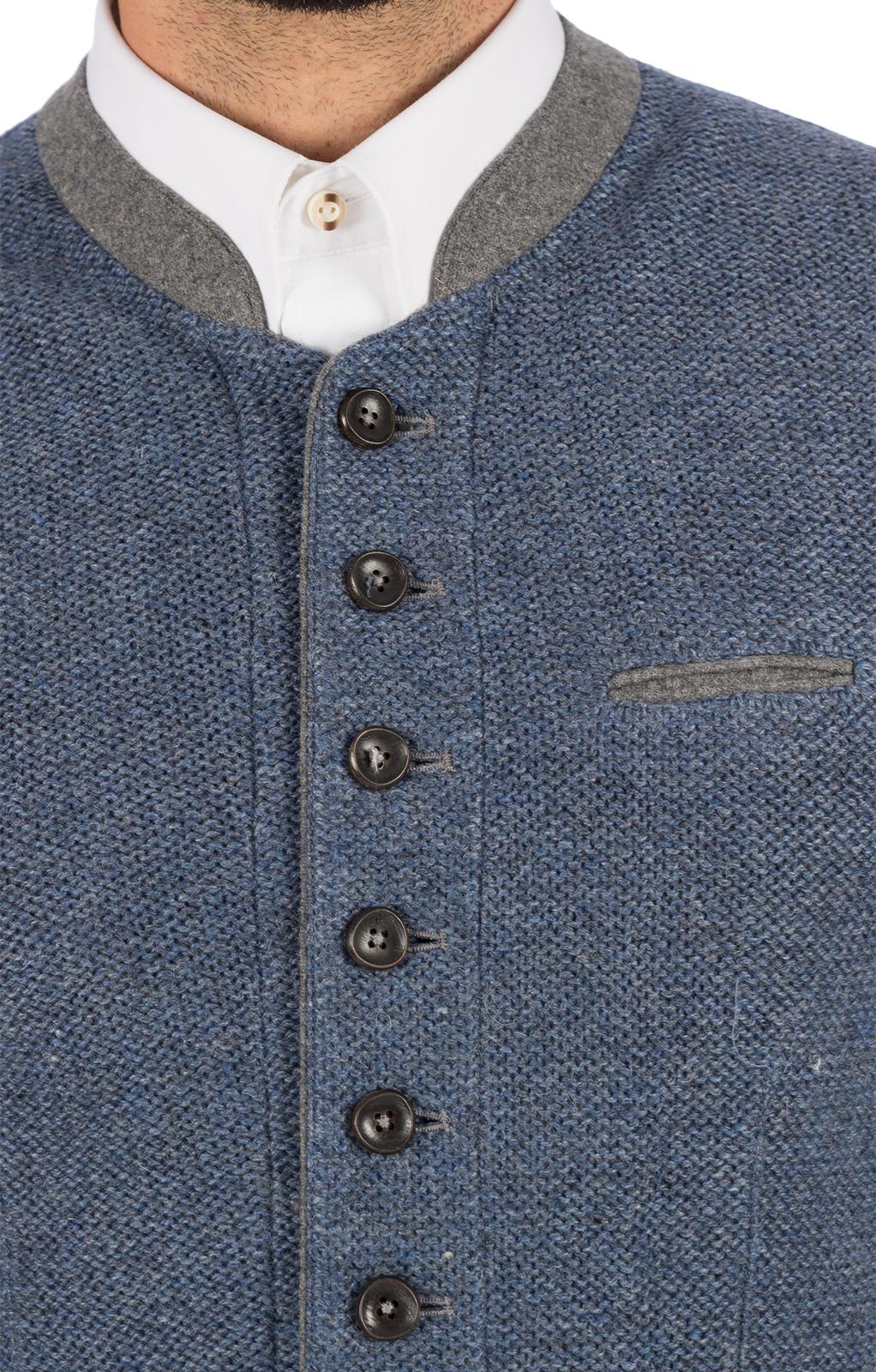 weitere Bilder von Trachtenstrickweste Stehkragen KNALLER SW jeansblau