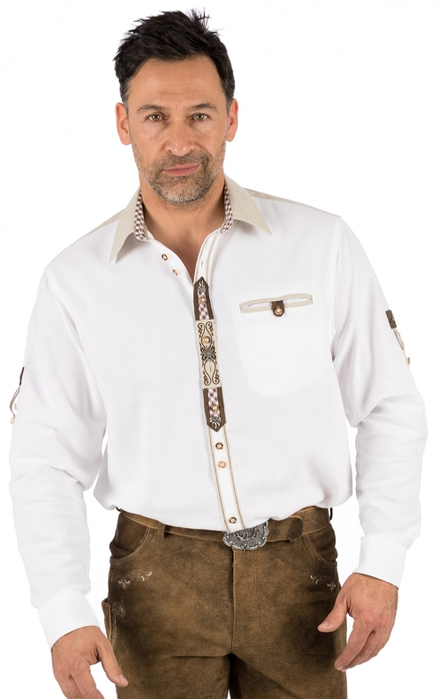 German traditional shirt LUCA white