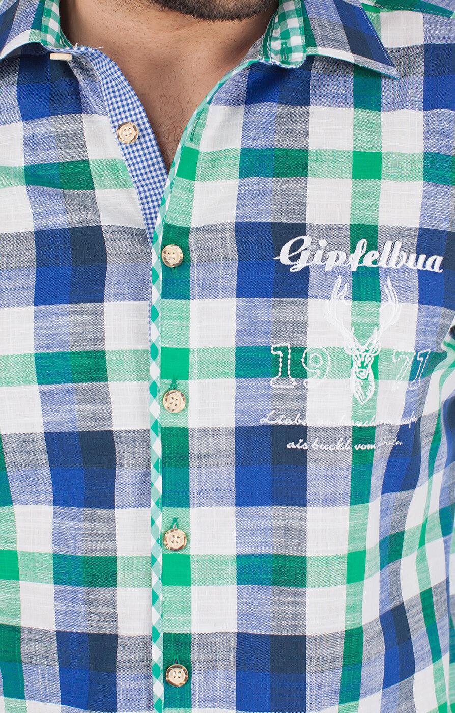 weitere Bilder von German traditional shirt 920001-3259-564 green blue