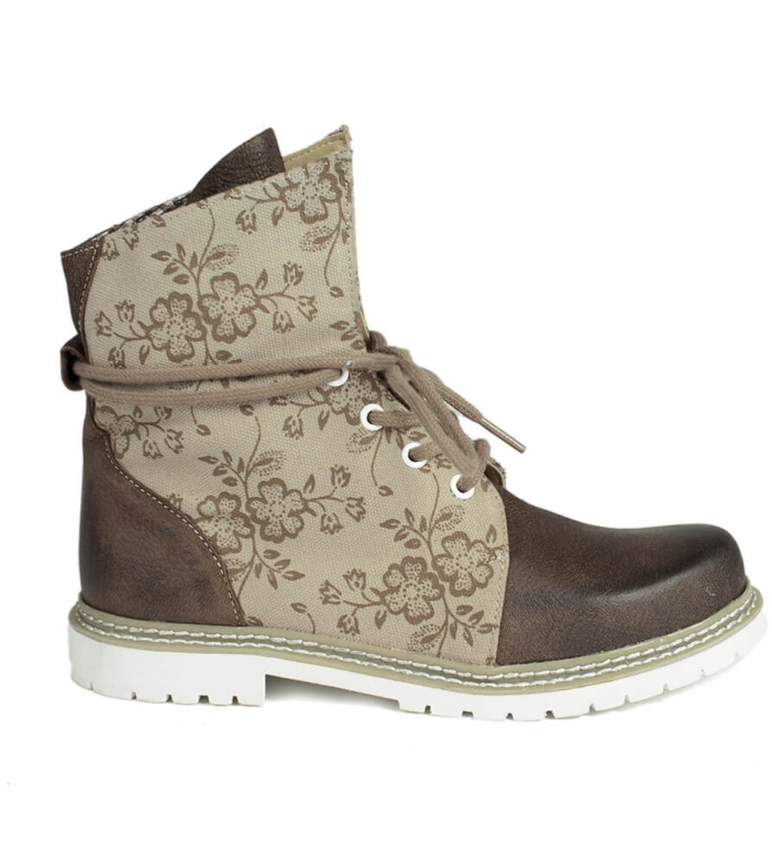 Traditional bootee D469 Janina nature rustik