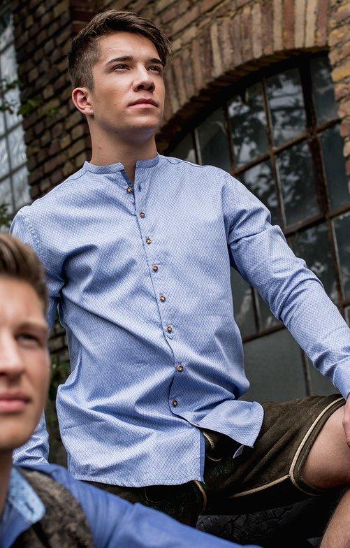German traditional shirt PETER light blue