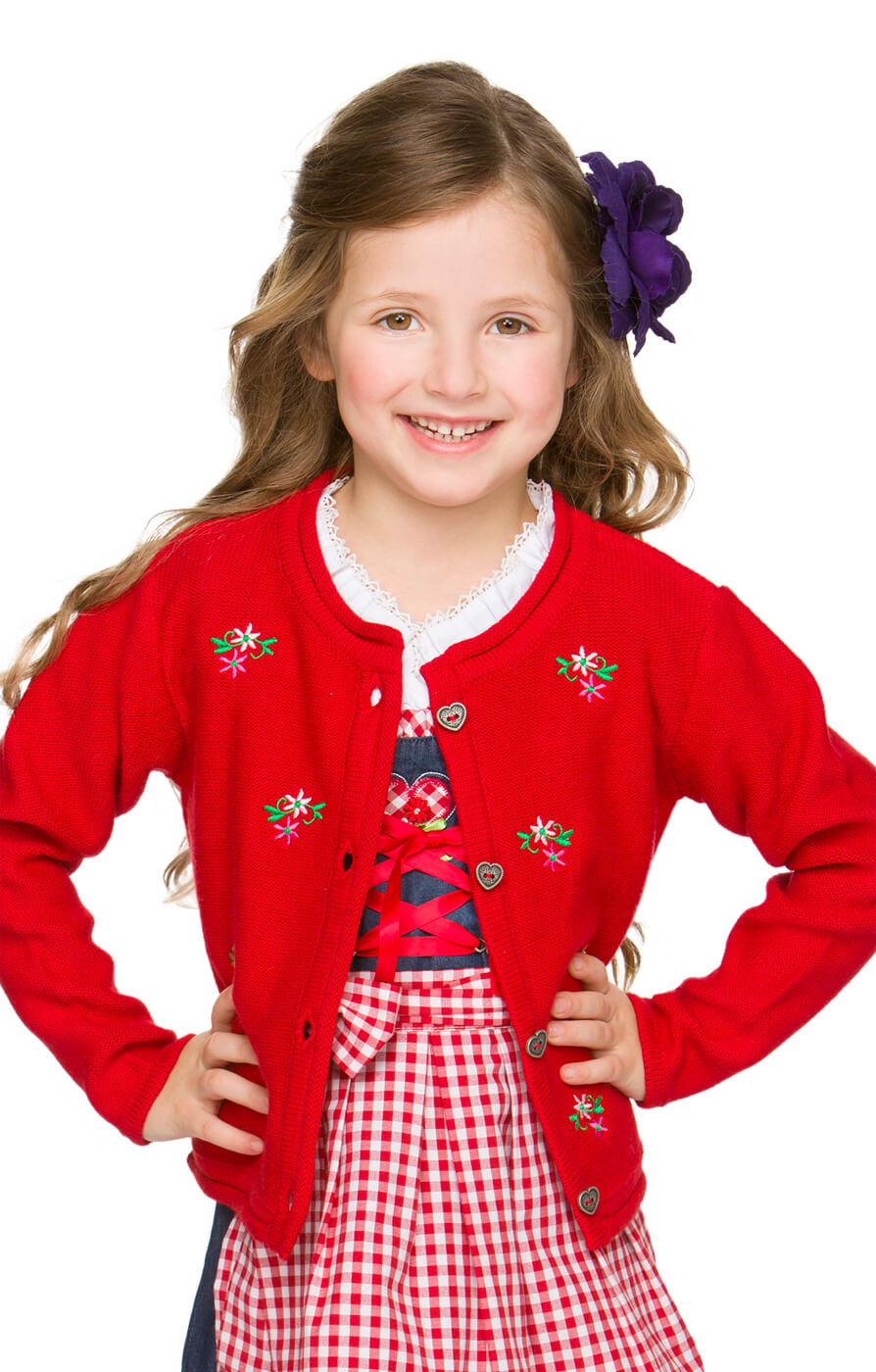 Kinder Strickjacke rot von Stockerpoint
