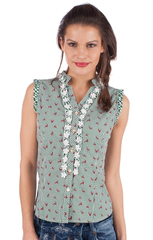 Trachten blouse BOBI-CO green