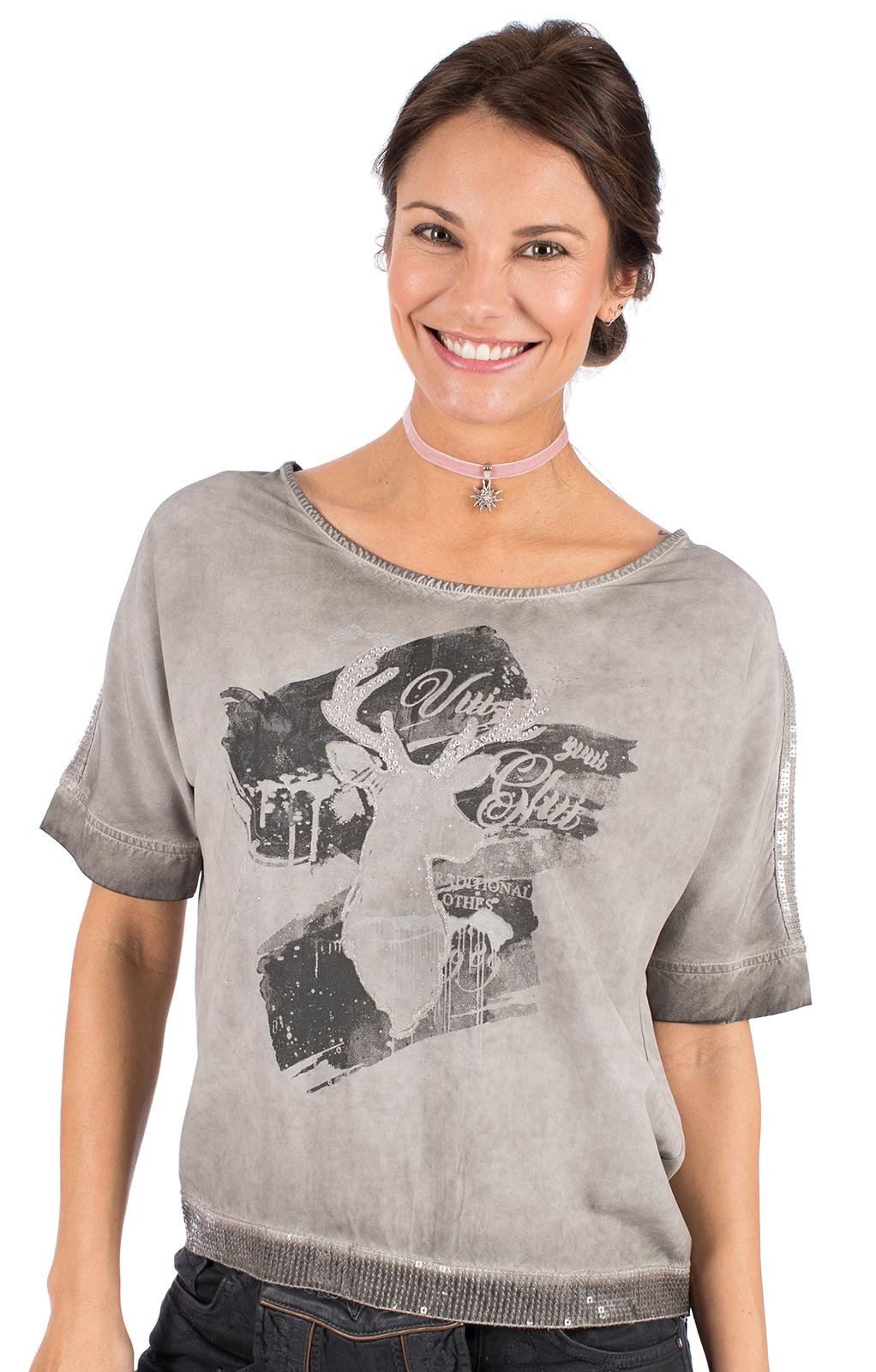 Trachten T-Shirt D37 - LUCI grau von Marjo