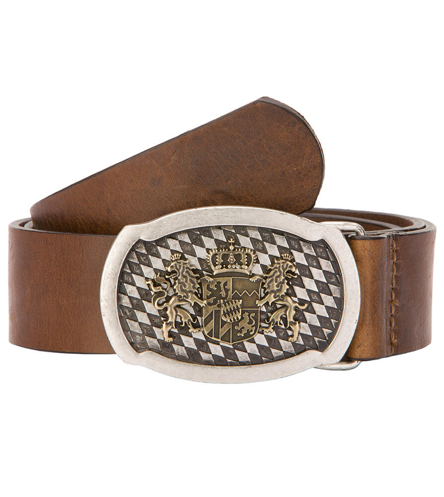 Traditional leather belt GO15901 brown von Stockerpoint