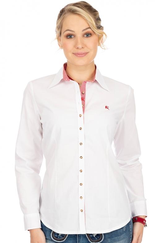 Bluse 450000-3205-1 weiß rot