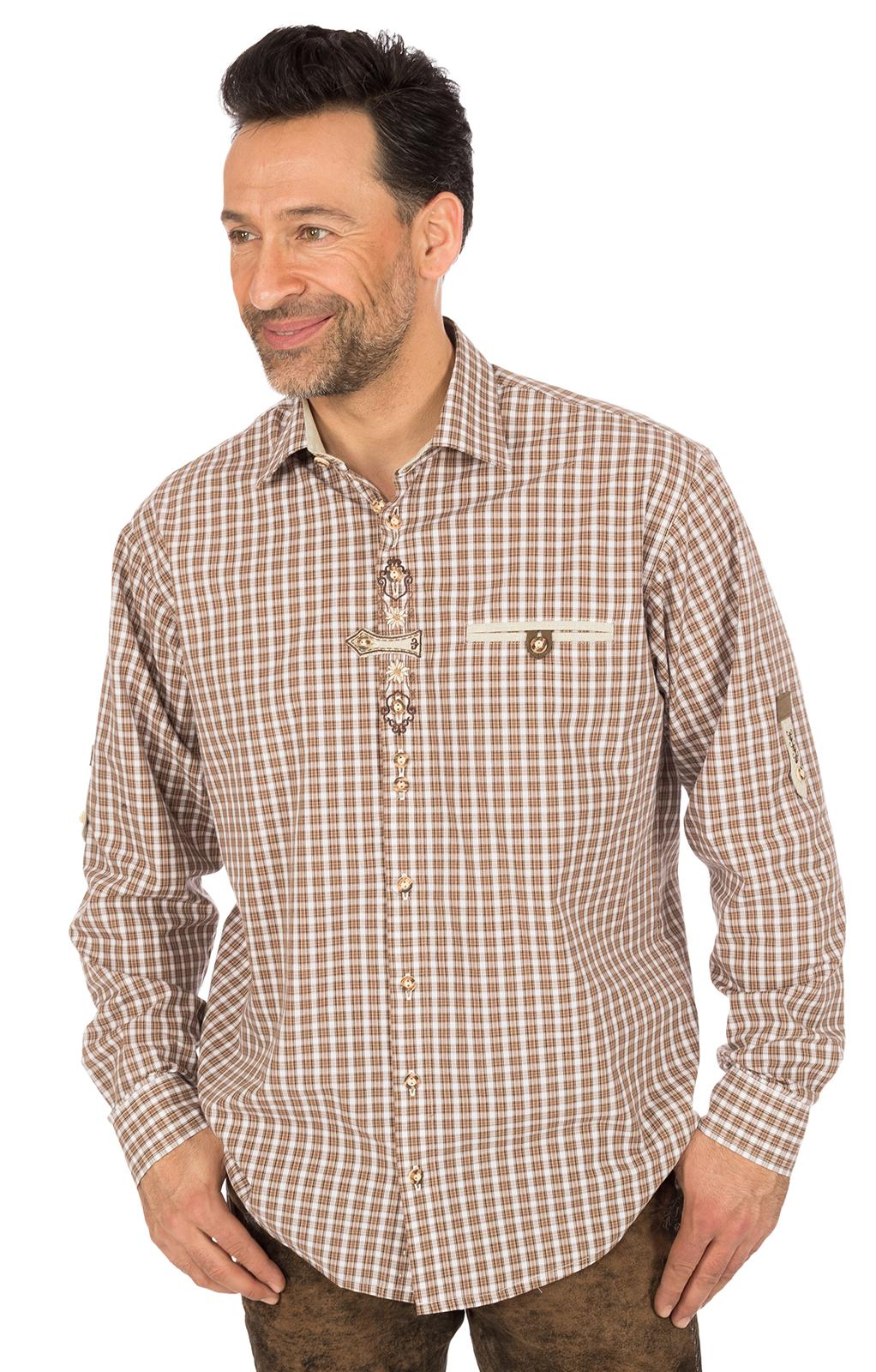 Camicia per Trachten marrone von OS-Trachten