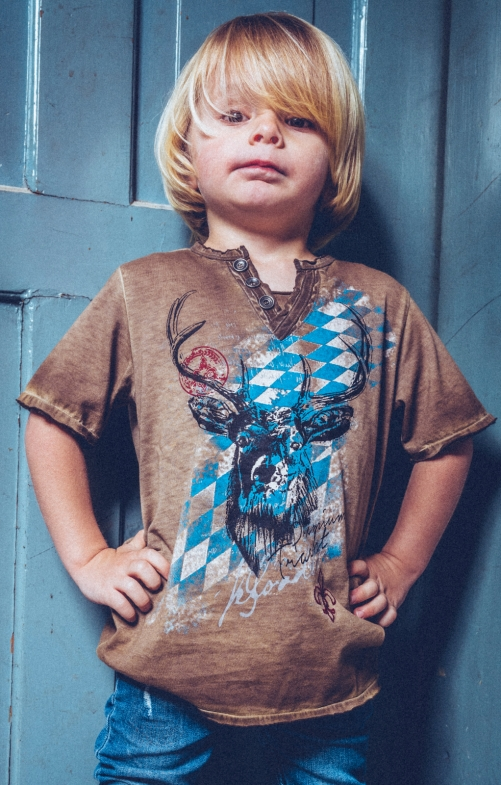 Trachten Shirts FERDI BAVARAI KIDS brown