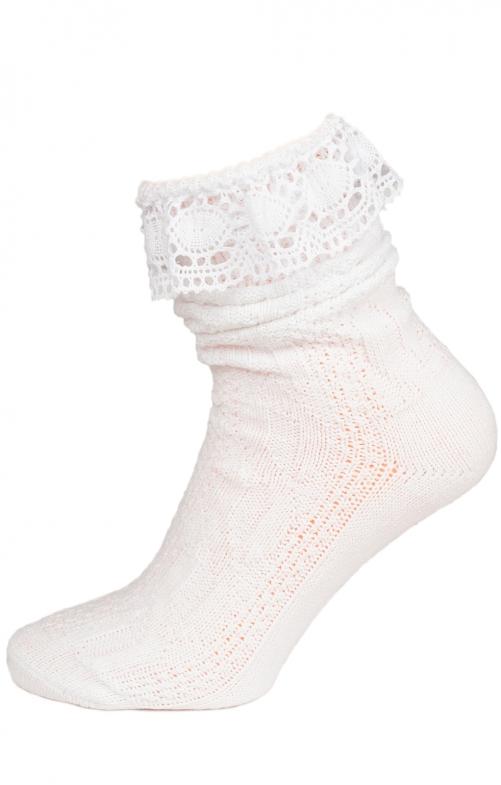 Socke C530 mit Spitze weiss
