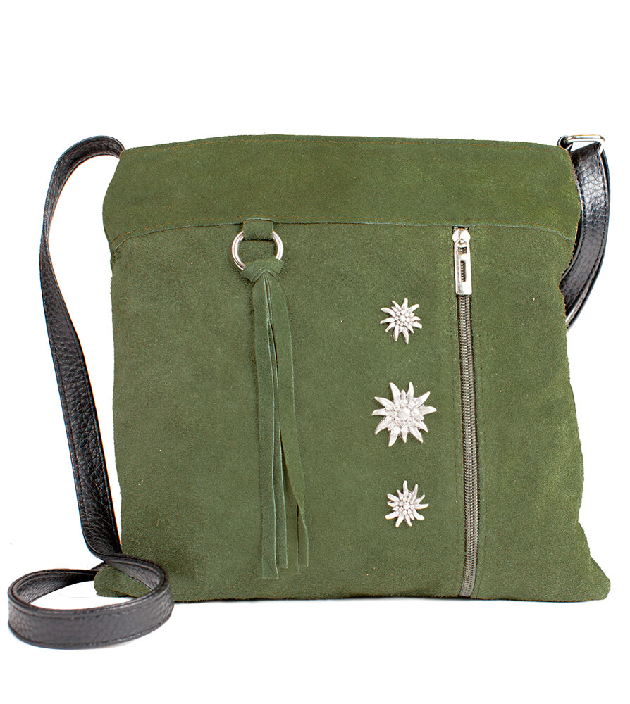 Tiroler Handtassen Edelweiss, TA30300-3-groen von Schuhmacher