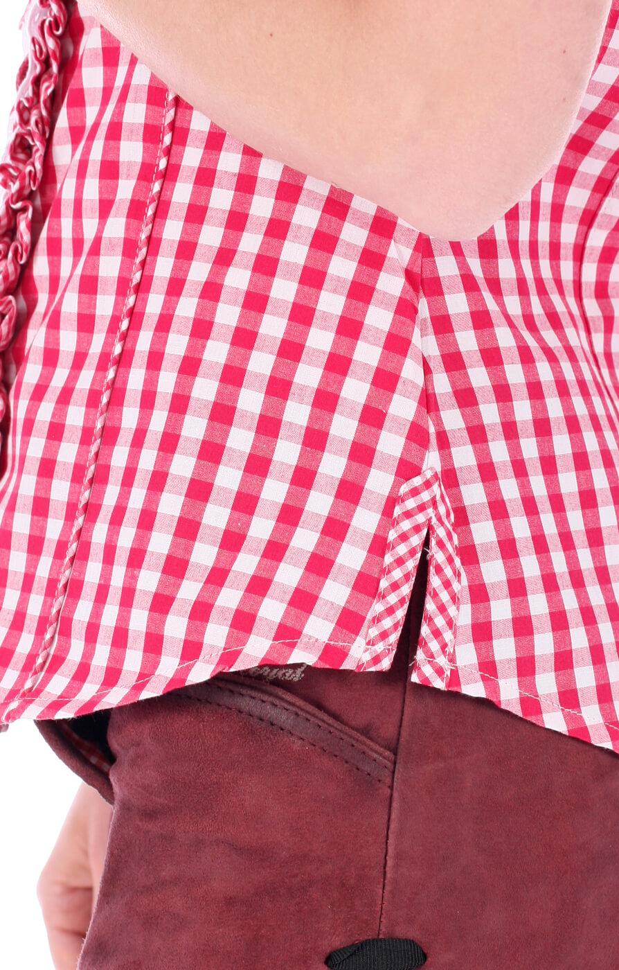weitere Bilder von Trachtenbluse Ally Rüschenborte karo pink