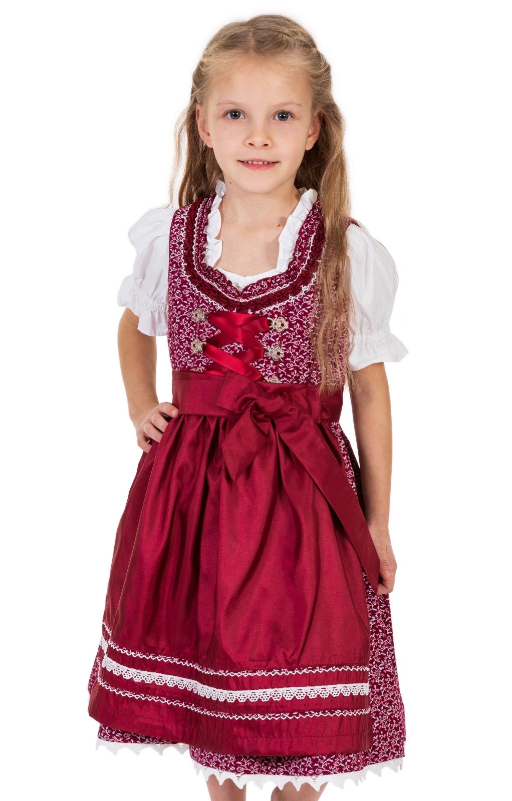 Bambini Dirndl DOMENICA-KIDS bordò von Marjo