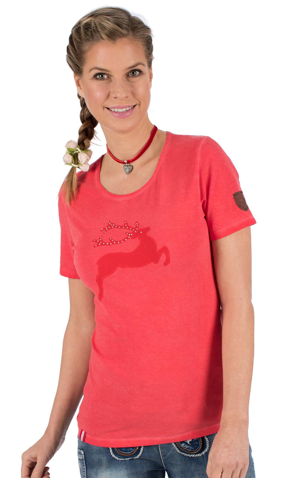 weitere Bilder von Trachten T-Shirt WALLERALM rot