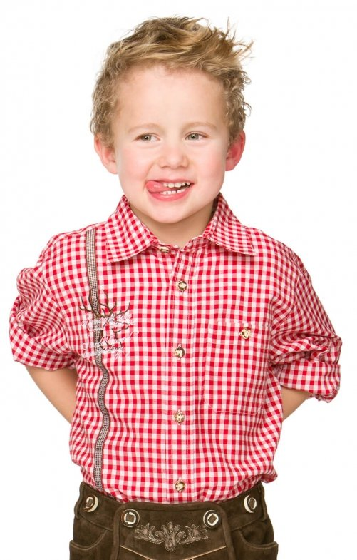 Children traditional shirt Leo red