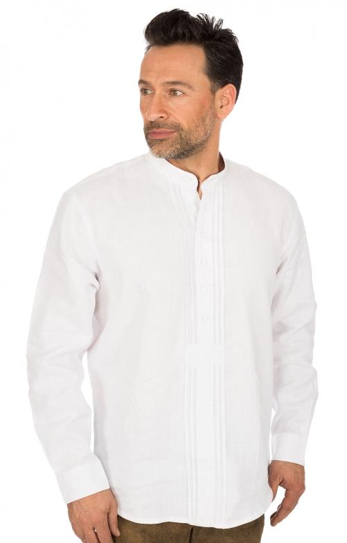 German traditional shirt Pfoad white