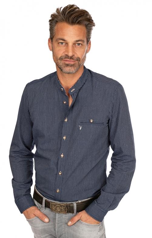 Stehkragenhemd NORM blau