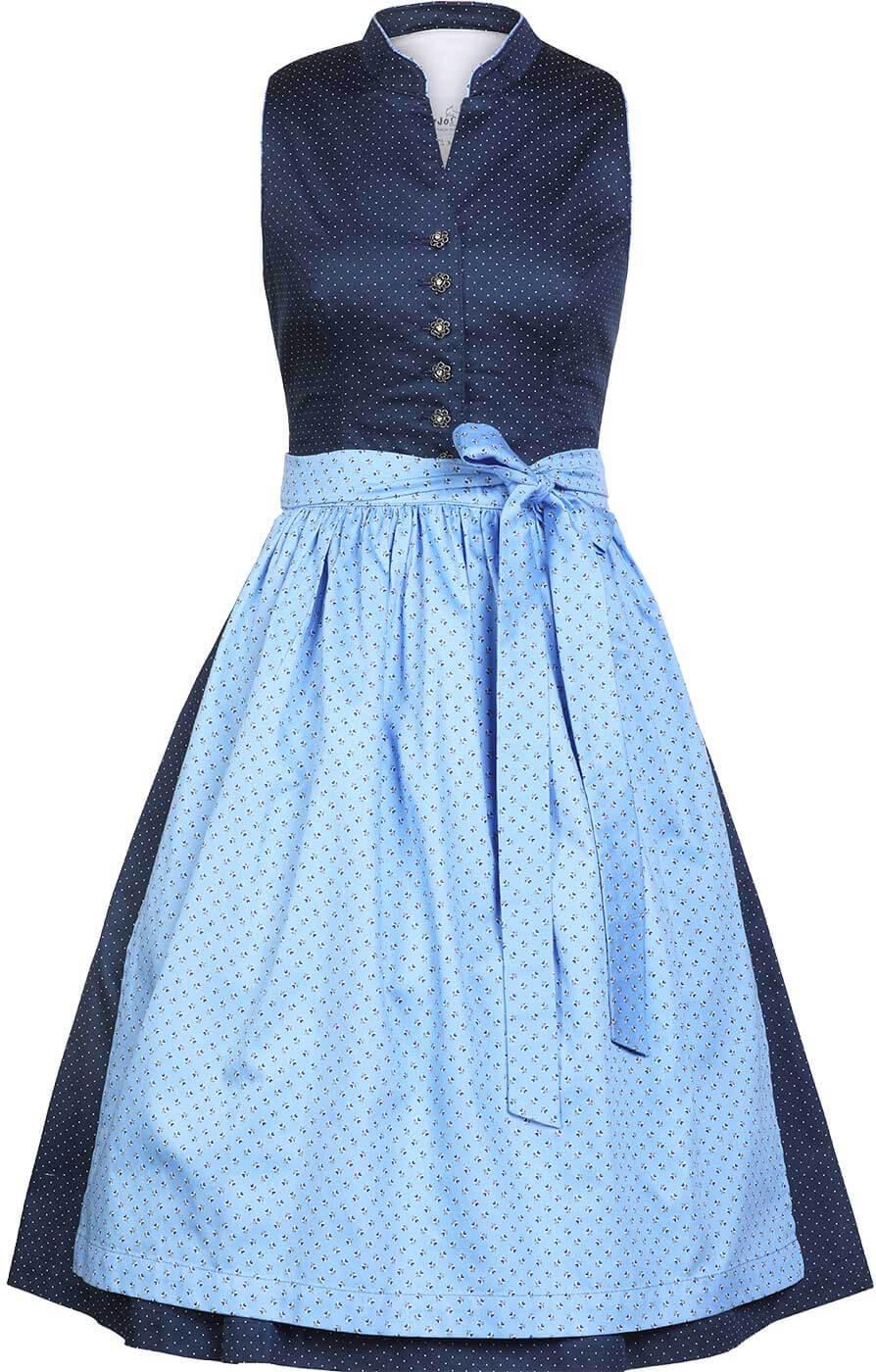 weitere Bilder von Midi Dirndl Helene 2tlg. 60cm blau hellblau