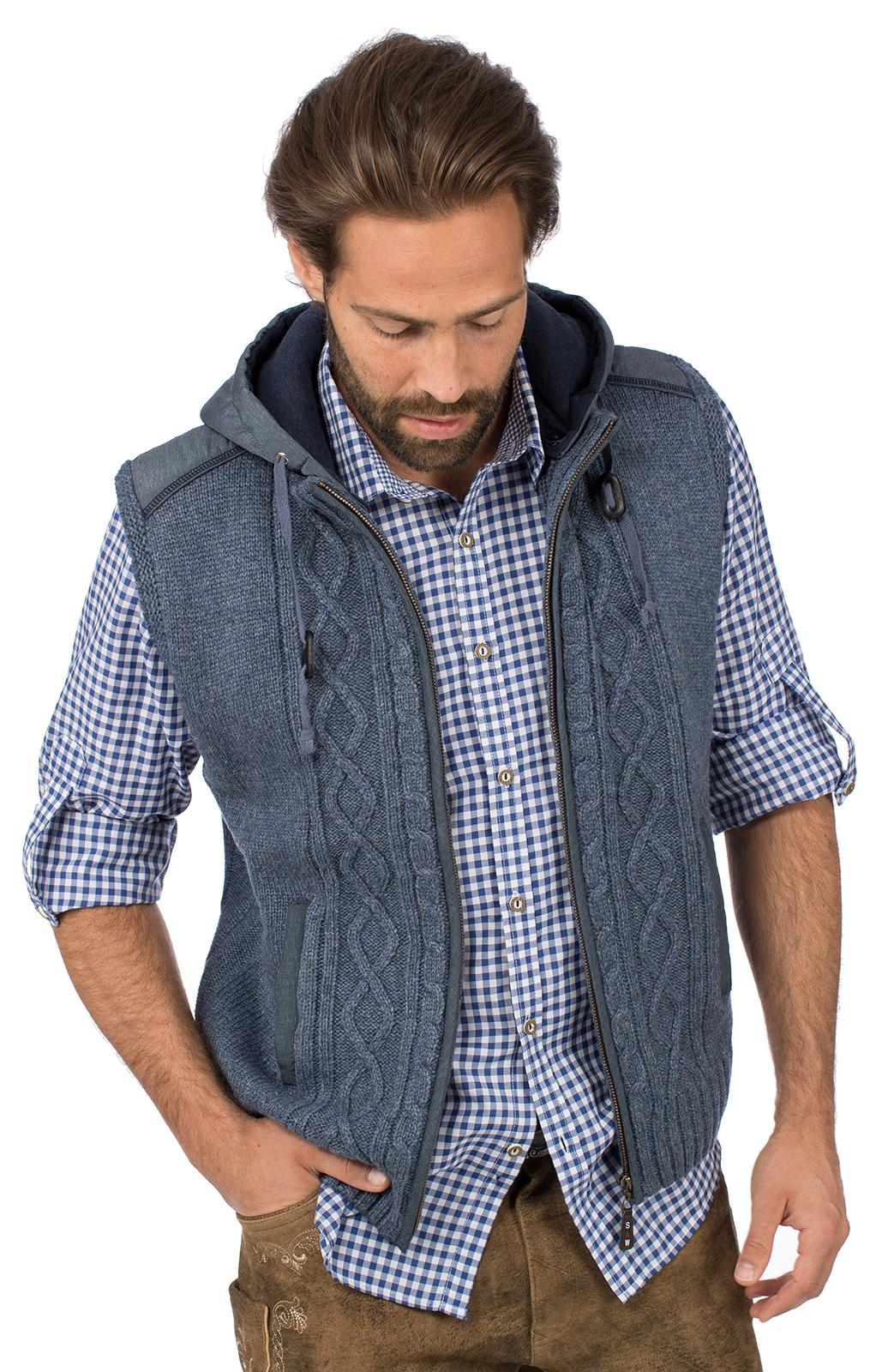 Trachtenweste HAINBURG Hoodie jeansblau von Spieth & Wensky