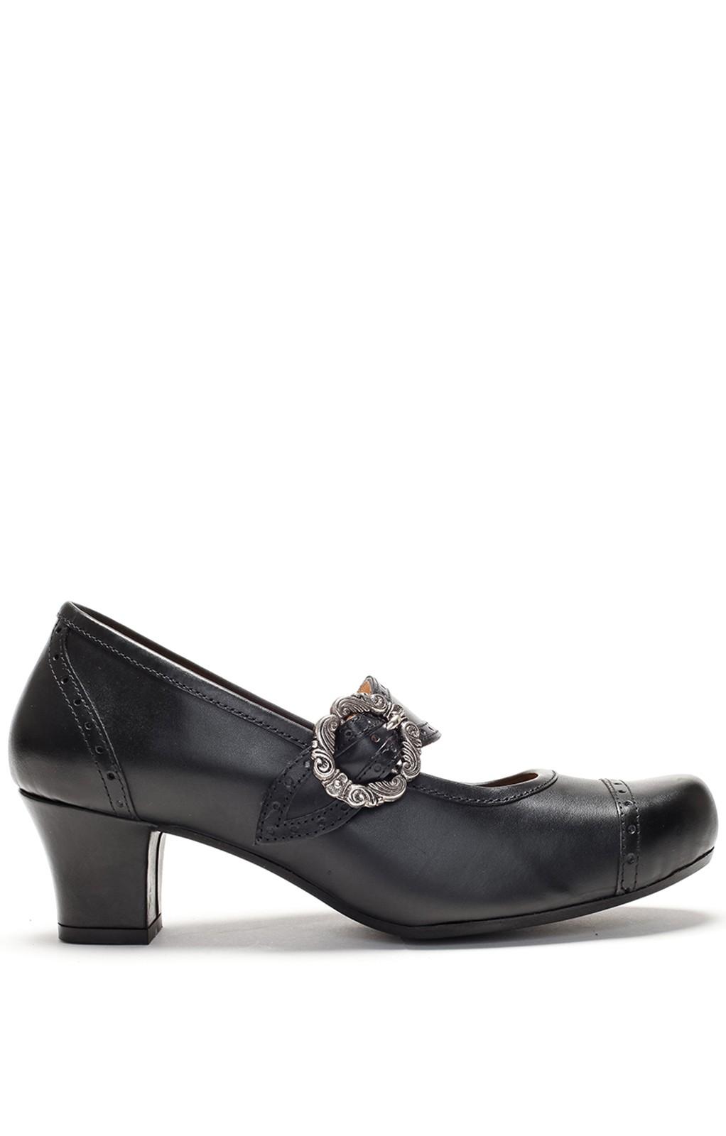 Traditional dirndl shoes D418 Clara Pumps Nappa black