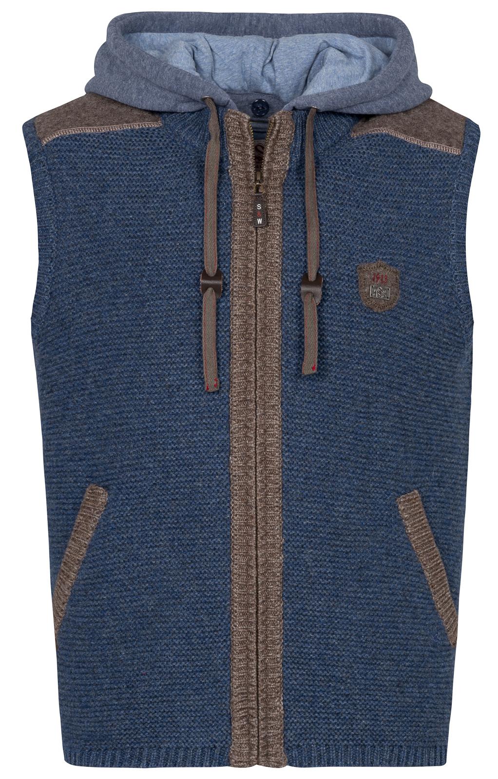 weitere Bilder von Trachten Strickweste GANSBACH jeansblau