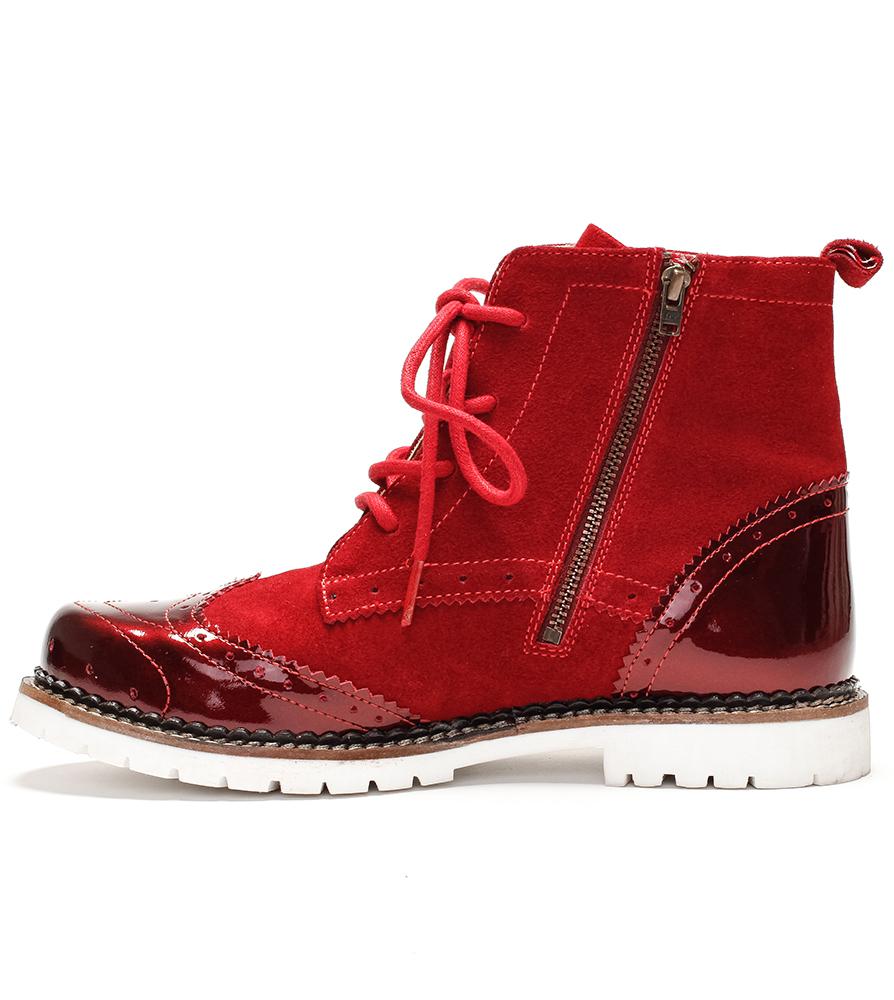 weitere Bilder von Traditional bootee D430 Jelka Lack Crosta red