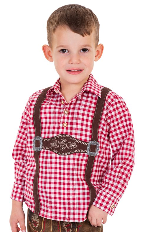Children traditional shirt BENJAMIN red