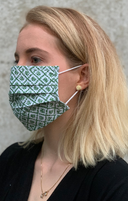Maschera di tessuto 3316-54 cachi fango