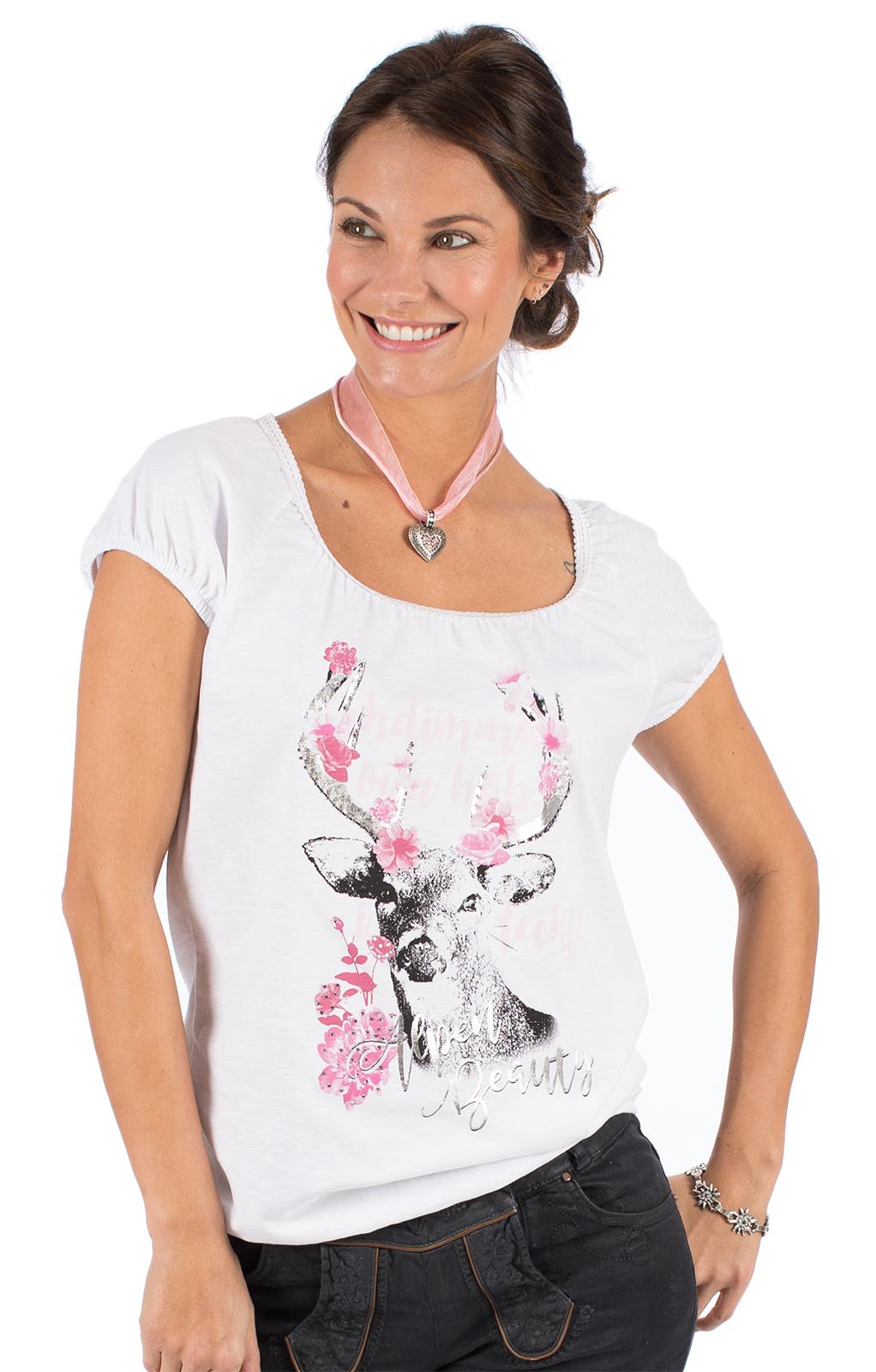 Trachten T-Shirt D43 - JULIA vintage weiß von Marjo